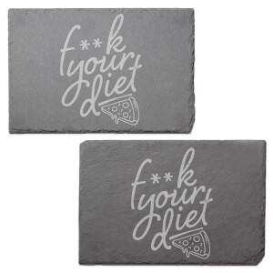 F**k Your Diet Engraved Slate Placemat - Set of 2