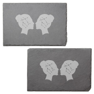 Gemini Engraved Slate Placemat - Set of 2