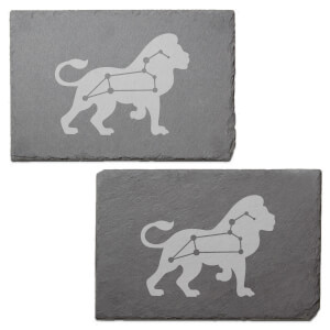 Leo Engraved Slate Placemat - Set of 2