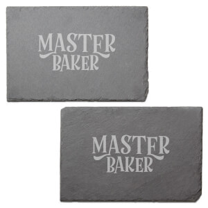 Master Baker Engraved Slate Placemat - Set of 2