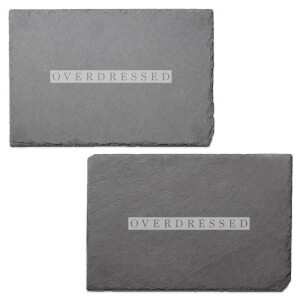 Overdressed Engraved Slate Placemat - Set of 2