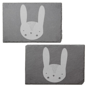 Rabbit Engraved Slate Placemat - Set of 2