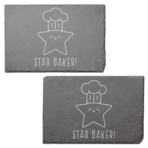 Star Baker! Engraved Slate Placemat - Set of 2