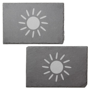Sun Engraved Slate Placemat - Set of 2