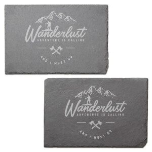 Wanderlust Engraved Slate Placemat - Set of 2