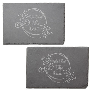 We Tied The Knot Engraved Slate Placemat - Set of 2