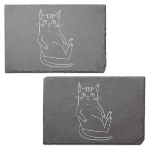 What You Looking At Engraved Slate Placemat - Set of 2