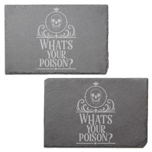 Whats Your Poison? Engraved Slate Placemat - Set of 2