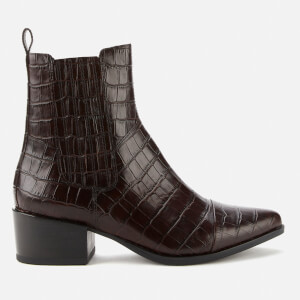 Vagabond Women's Marja Embossed Leather Western Boots - Brown