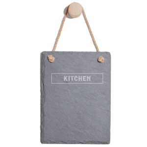 Kitchen Engraved Slate Memo Board - Portrait