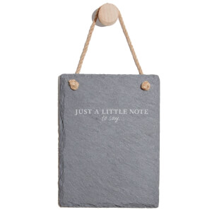 Just A Little Note To Say... Engraved Slate Memo Board - Portrait