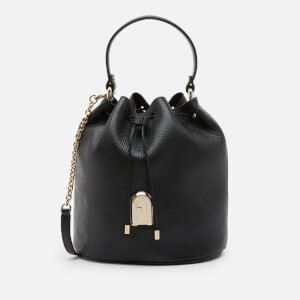 Furla Women's Sleek Small Drawstring Bucket Bag - Black