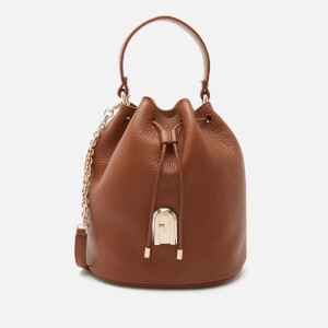 Furla Women's Sleek Small Drawstring Bucket Bag - Brown