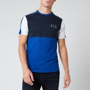 Armani Exchange Men's Panelled Sweatshirt - Blue
