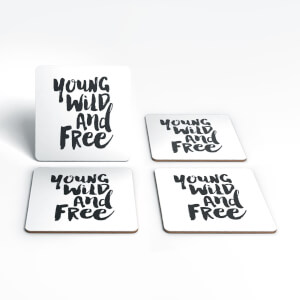 The Motivated Type Young Wild And Free Coaster Set