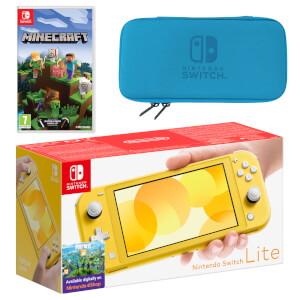 Nintendo Switch Lite (Yellow) Minecraft Pack