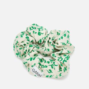 Ganni Women's Printed Scrunchie - Tapioca