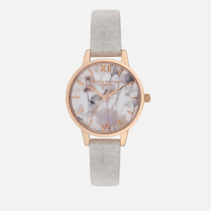 Olivia Burton Women's Eco Friendly Midi Dial Watch - Grey Lilac/Rose Gold