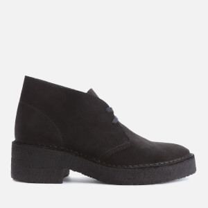 Clarks Originals Women's Arisa Desert Suede Heeled Boots - Black