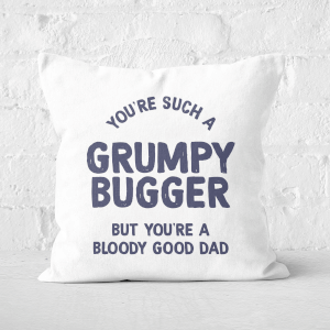 You're Such A Grumpy Bugger Square Cushion