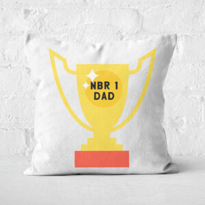 Nbr 1 Dad Trophy Square Cushion