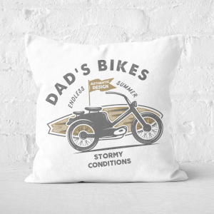Dad's Bikes Square Cushion