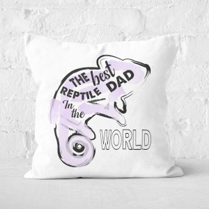 Reptile Dad Square Cushion