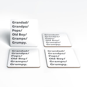 Grandad/Grandpa/pops... Coaster Set