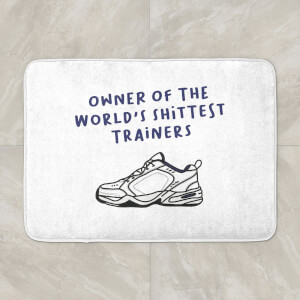 Owner Of The World's Shittest Trainers Bath Mat