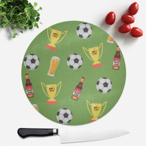Football Fan Round Chopping Board