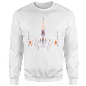 Space Ship Sweatshirt - White