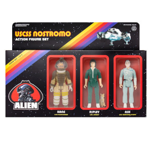 Super7 Alien ReAction Figure - Pack A (Ash, Ripley with Jonesy, Kane with Facehugger) Action Figure