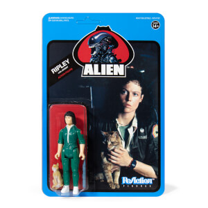 Super7 Alien ReAction Figure - Ripley with Jonesy (Blue Card) Action Figure
