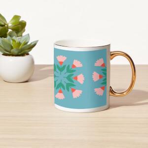 Flowers Of Flowers Bone China Gold Handle Mug