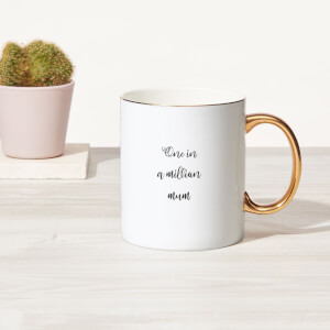 One In A Million Mum Bone China Gold Handle Mug