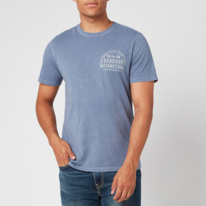 Barbour International Men's Visor T-Shirt - Blue Metal