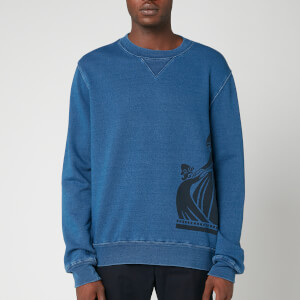 Lanvin Men's Side Logo Sweatshirt - Navy Blue