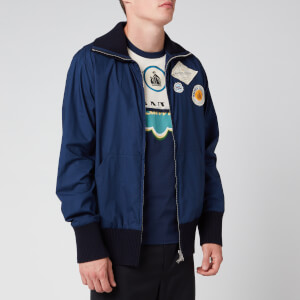 Lanvin Men's Zipped Patch Jacket - Navy Blue
