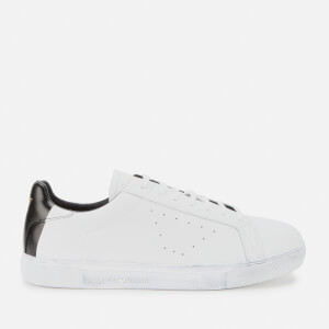 Emporio Armani Men's Leather Low Top Trainers - White