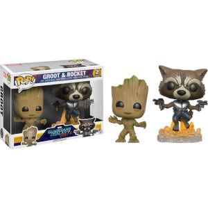 Marvel Guardians of the Galaxy 2 Groot and Rocket 2-Pack EXC Pop! Vinyl Figures