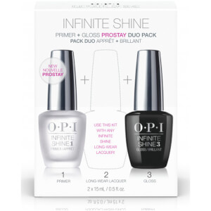 OPI Nail Base and Top Coat Duo Pack, Infinite Shine Long-wear System, 1st and 3rd Step, 2 x 15ml