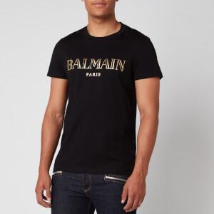 Balmain Men's Vintage Logo T-Shirt - Black/Gold