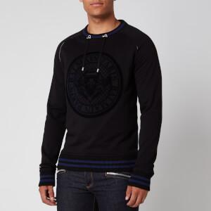 Balmain Men's Coin 3D Sweatshirt - Black/Blue