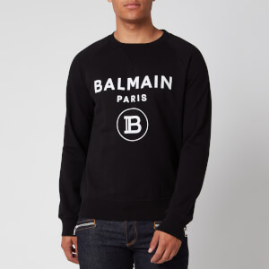 Balmain Men's Flock Sweatshirt - Black/White