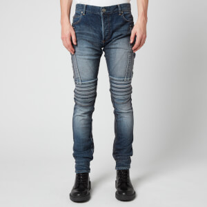 Balmain Men's Slim Biker Jeans - Blue