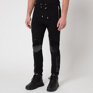Balmain Men's Flock Sweatpants - Black
