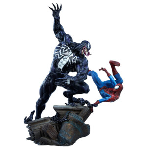 Sideshow Collectibles Marvel Maquette Spider-Man vs Venom 56 cm