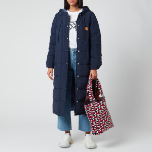 KENZO Women's Elongated Puffer Reversible - Navy Blue