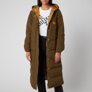 KENZO Women's Elongated Puffer Reversible - Khaki