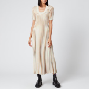 KENZO Women's Pleated Dress - Dark Beige